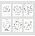 set of interior posters with cute bunnies vector image vector image