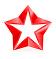 Shiny RED star 04 vector image vector image