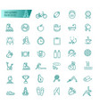 sport sports equipment healthy lifestyle icons vector image vector image