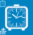 square table clock with simple clockwise includes vector image