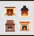stickers set different colorful home vector image vector image
