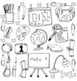 stock education doodles vector image vector image