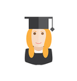 student avatar vector image vector image