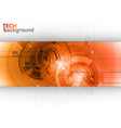 tech background line red center vector image vector image