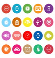 Time related flat icons on white background vector image vector image