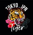 tokyo jpn tiger vector image vector image