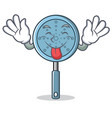 tongue out skimmer utensil character cartoon vector image vector image