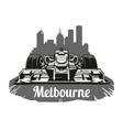 Vintage poster Grand Prix Melbourne vector image vector image