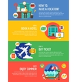 Vocation summer travel infographic Summer vector image vector image