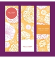warm day flowers vertical banners set pattern vector image