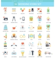 wedding color flat icon set Elegant style vector image vector image