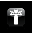 woman weights vector image vector image
