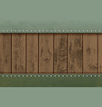 wooden textured panels on a metal plate vector image vector image