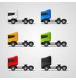 colored trucks set vector image