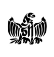 Swooping Tattoo Eagle vector image