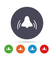 alarm bell sign icon wake up alarm symbol vector image vector image