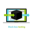 black box testing input output process software vector image