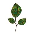bohemian or boho style leaf icon image vector image vector image