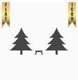 Camping among the trees vector image vector image
