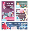 cancer urology and nephrology medical posters vector image vector image