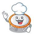 chef trampoline character room on place isolated vector image