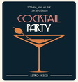 cocktail party invitation vector image vector image