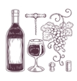 collection of wine icons vector image vector image
