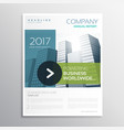 company brochure design template in clean modern vector image vector image