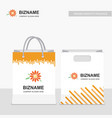 company shopping bags design with creative design vector image vector image