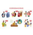 concept virus quarantine vector image