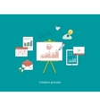 Concepts of creative process and data protection vector image vector image