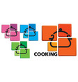 cooking symbol vector image vector image