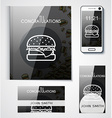 Corporate set of objects with the design burgers vector image vector image