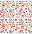cute animals pattern background vector image vector image