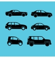 different type cars vector image vector image