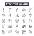 executive women line icons for web and mobile vector image
