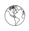 global planet sticker vector image