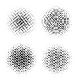 halftone circles abstract dotted round vector image vector image