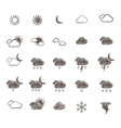 Hand Drawn Weather Icon Set vector image vector image