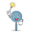 Have an idea skimmer utensil character cartoon vector image