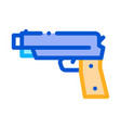 iron shooting gun icon outline vector image vector image