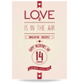Just Valentines day banner in vintage style vector image