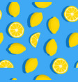 lemons background seamless pattern with fresh vector image vector image