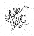 love you lettering minimalist poster for st vector image vector image