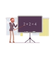 Male mathematic teacher is teaching maths vector image vector image
