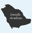 Map of Saudi Arabia vector image vector image