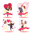 newlyweds cartoon design concept vector image vector image