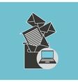notebook computer messaging marketing vector image vector image