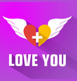purple valentines day background vector image vector image
