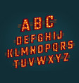 retro 3d alphabet vector image